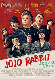 "Movie poster for ""JOJO RABBIT"""
