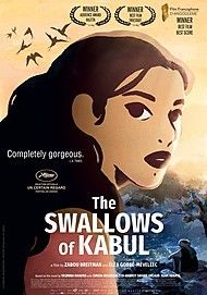 "Movie poster for ""THE SWALLOWS OF KABUL"""