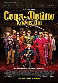 """Movie poster for """"CENA CON DELITTO - KNIVES OUT"""""""