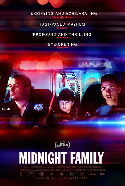 "Movie poster for ""MIDNIGHT FAMILY"""