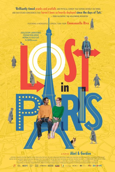"""Movie poster for """"LOST IN PARIS"""""""