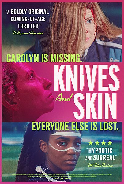 "Movie poster for ""KNIVES AND SKIN"""