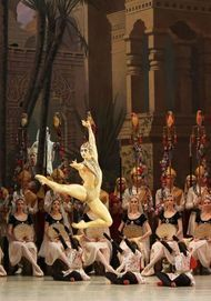 "Movie poster for ""LA BAYADERE"""