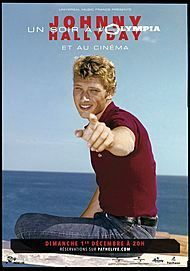 "Movie poster for ""JOHNNY HALLYDAY : UN SOIR À L'OLYMPIA"""