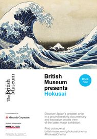 "Movie poster for ""BRITISH MUSEUM PRESENTS: HOKUSAI"""