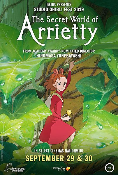 """Movie poster for """"THE SECRET WORLD OF ARRIETTY"""""""
