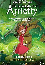 "Movie poster for ""THE SECRET WORLD OF ARRIETTY"""