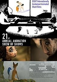 "Movie poster for ""THE 21ST ANNUAL ANIMATION SHOW OF SHOWS"""