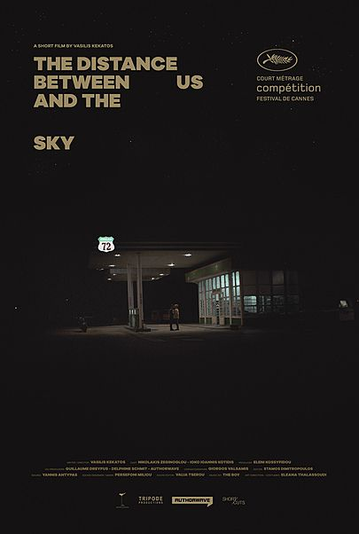 """Movie poster for """"THE DISTANCE BETWEEN US AND THE SKY"""""""