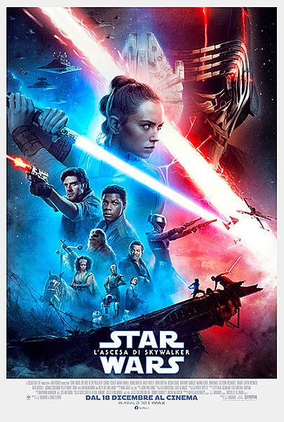 "Movie poster for ""STAR WARS: THE RISE OF SKYWALKER"""