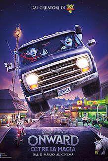 "Movie poster for ""ONWARD - OLTRE LA MAGIA"""