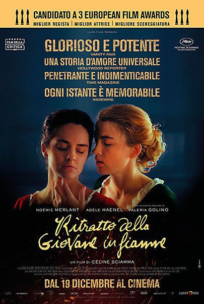 """Movie poster for """"RITRATTO DELLA GIOVANE IN FIAMME"""""""