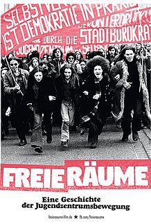 """Movie poster for """"FREIE RÄUME - EINE GESCHICHTE DER JUGENDZENTRUMSBEWEGUNG"""""""