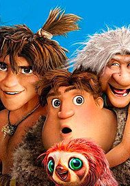 """Movie poster for """"THE CROODS - Alles auf Anfang"""""""