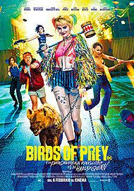 "Movie poster for ""BIRDS OF PREY (E LA FANTASMAGORICA RINASCITA DI HARLEY QUINN)"""