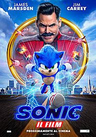 "Movie poster for ""SONIC THE HEDGEHOG"""
