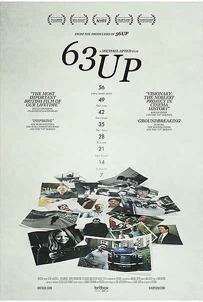 "Movie poster for ""63 UP"""