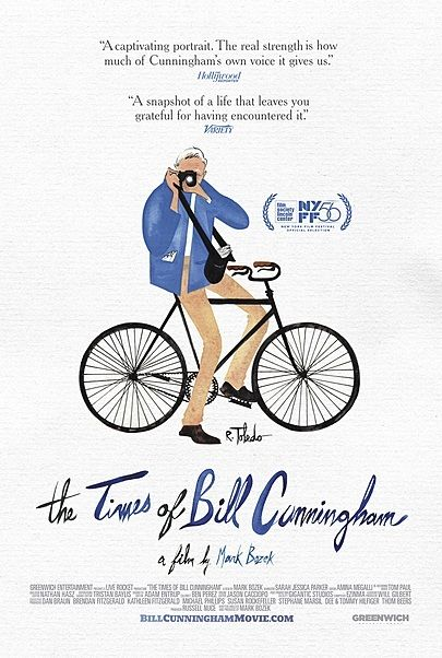 """Movie poster for """"THE TIMES OF BILL CUNNINGHAM"""""""