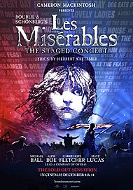 "Movie poster for ""LES MISERABLES - THE STAGED CONCERT"""