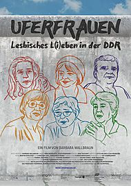 """Filmplakat für """"UFERFRAUEN - LESBISCHES L(I)EBEN IN DER DDR"""""""