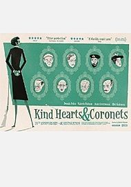 "Movie poster for ""KIND HEARTS AND CORONETS"""
