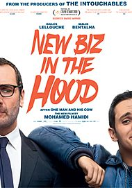 "Movie poster for ""NEW BIZ IN THE HOOD!"""