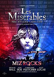 Plakat for LES MISERABLES - THE STAGED CONCERT