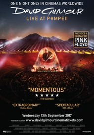 "Movie poster for ""DAVID GILMOUR LIVE AT POMPEI"""