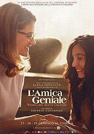 """Movie poster for """"L'AMICA GENIALE. STORIA DEL NUOVO COGNOME"""""""