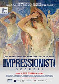 "Movie poster for ""IMPRESSIONISTI SEGRETI"""
