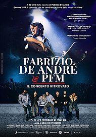 """Movie poster for """"FABRIZIO DE ANDRE E PFM """""""