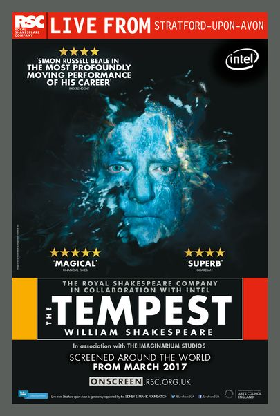 """Movie poster for """"THE TEMPEST - Royal Shakespeare Company Live"""""""