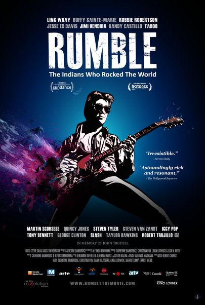 """Movie poster for """"RUMBLE: THE INDIANS WHO ROCKED THE WORLD"""""""