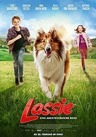 "Movie poster for ""LASSIE COME HOME"""
