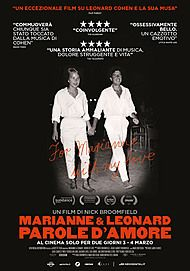 "Movie poster for ""MARIANNE & LEONARD: WORDS OF LOVE"""