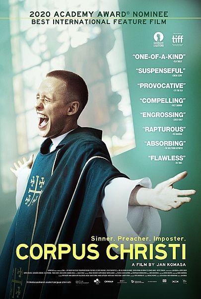 "Movie poster for ""CORPUS CHRISTI"""