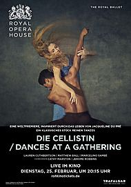 """Movie poster for """"THE CELLIST / DANCES AT A GATHERING (ROYAL OPERA HOUSE 2019/20)"""""""