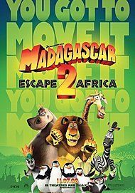 "Movie poster for ""MADAGASCAR ESCAPE 2 AFRICA"""