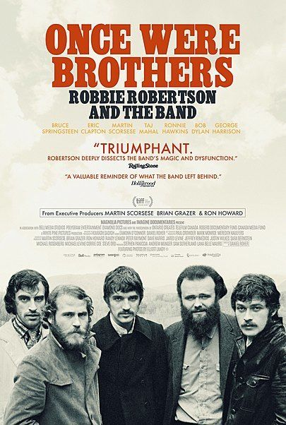"""Movie poster for """"ONCE WERE BROTHERS"""""""