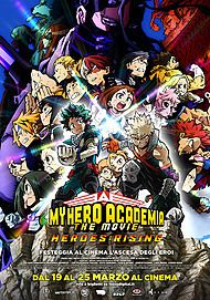"Movie poster for ""MY HERO ACADEMIA THE MOVIE 2 – HEROES: RISING"""
