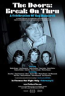 "Movie poster for ""THE DOORS: BREAK ON THRU - A CELEBRATION OF RAY MANZAREK"""