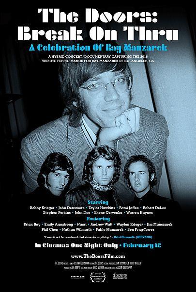 "Movie poster for ""THE DOORS: BREAK ON THRU - A CELEBRATION OF RAY MANZAREK"""