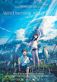 "Movie poster for ""WEATHERING WITH YOU"""