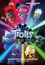 "Filmplakat für ""TROLLS WORLD TOUR"""