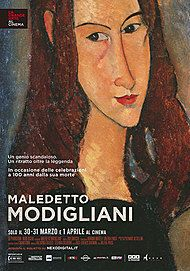 "Movie poster for ""MALEDETTO MODIGLIANI"""