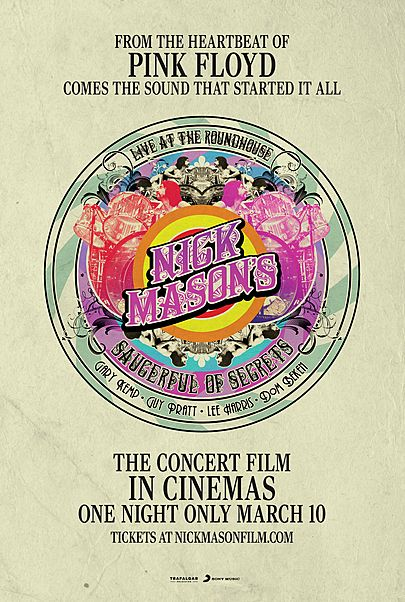 """Movie poster for """"NICK MASON'S SAUCERFUL OF SECRETS: LIVE AT THE ROUNDHOUSE"""""""