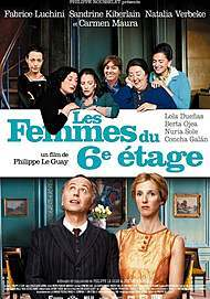 "Movie poster for ""LES FEMMES DU 6E ETAGE"""