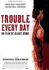 "Movie poster for ""TROUBLE EVERY DAY"""