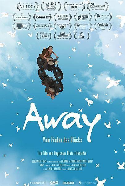 """Filmplakat für """"AWAY - VOM FINDEN DES GLÜCKS"""""""