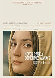 "Movie poster for ""NEVER RARELY SOMETIMES ALWAYS"""